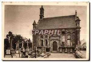 Old Postcard Guimiliau The Funeral Chapel