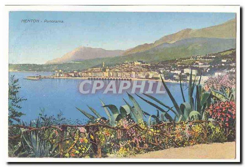 Menton Old Postcard Panorama