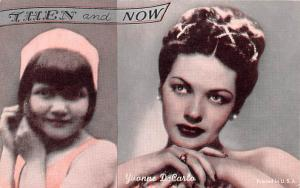 Then and Now, Yvonne DeCarlo Actor, Movie Star Mutoscope Unused