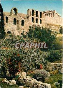 Modern Postcard Partial Athens Acropolis