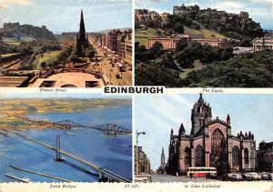 Scotland, UK Old Vintage Antique Post Card Princes Street, The Castle Edinbur...