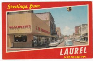 Main Street , WOOLWORTH'S Store , LAUREL , Mississippi , 1950s