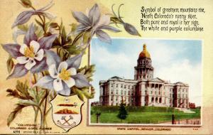 State Flower & Capitol - Colorado, Columbine