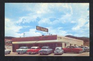 PHOENIX ARIZONA SUNSET HILLS DINING ROOM RESTAURANT CARS VINTAGE POSTCARD