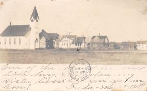 Udell Iowa~My Sister's House in Our Little Burg~Methodist Church~1907 RPPC