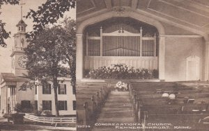 KENNEBUNKPORT , Maine, 1900-10s; Interior & Exterior, Congregational Church