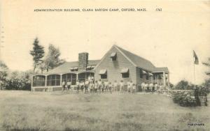 American Building Clara Barton Camp 1950s Oxford Massachusetts postcard 10633
