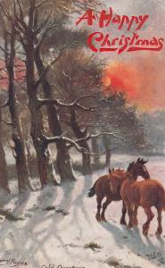 HARRY PAYNE : Trees , Glorious Winter , 1908 ; TUCK 9569