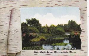 Michigan Greetings From Richmond 1912