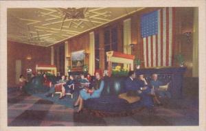 Illinois Chicago The Bismarck Hotel Lobby 1946