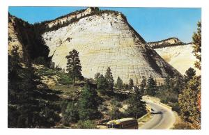 Zion National Park Checkerboard Mesa Utah Vintage Mike Roberts Postcard