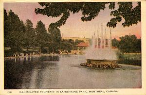 Canada - Quebec, Montreal.  La Fontaine Park, Fountain