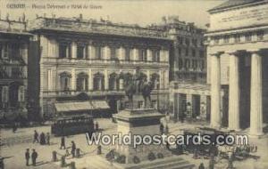 Genova, Italy, Italia Piazza Defferari e Hotel de Genes  Piazza Defferari e H...
