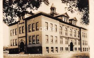 Iowa Ia Postcard Real Photo RPPC 1920 SIBLEY Public School Building