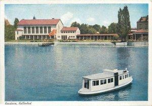 Postcard Germany Konstanz Hallenbad river boat