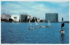 Voiliers Sur Lac Merritt Oakland California Carte Postale