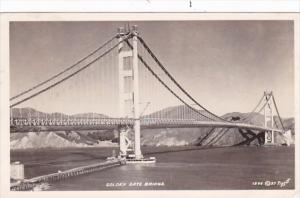 California San Francisco Golden Gate Bridge 1954 Real Photo