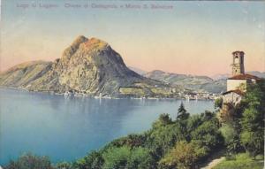 Switzerland Lagi di Lugano Chiesa di Castagnola e Monte San Salvatore