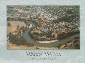 Wagga Wagga Aerial Australian Postcard