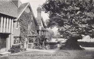 PENSHURST KENT UK OLD COTTAGES FROM THE LYCH GATE~GRANO SERIES POSTCARD