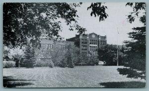 Minot North Dakota~Shade Trees in Full Bloom @ State Teachers College 1940s B&W