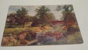 POSTCARD,ST.LOUIS,MO.1914,SCENE IN FOREST PARK $6