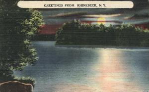 Sunset Greetings from Rhinebeck NY, New York - Linen