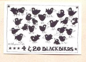 R Hupman Cartoon 4 & 20 Blackbirds 1977, Fly By Night, Nova Scotia