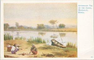 Burma Mandalay Afternoon Tea On The Canal Joseph Causton Postcard G47