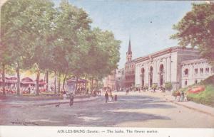 AIX LES BAINS , France , 00-10s ; The Baths , The Flower Market