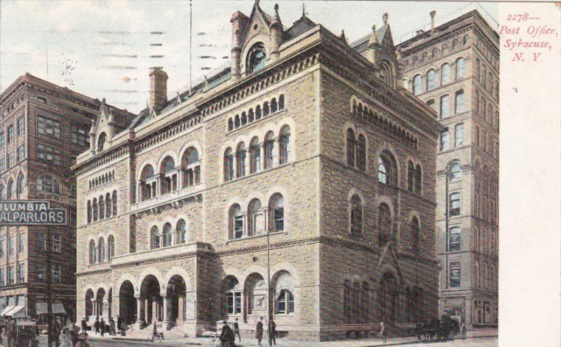 Post Office, SYRACUSE, New York, PU-1908