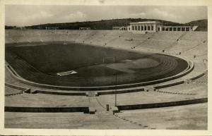portugal, LISBON LISBOA, Estadio Nacional (1950) Stadium Postcard RPPC (1)