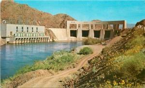 California Colorado River Lake Havasu 1950s Parker Dam Postcard Kendall 5683