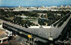 Algeria Oran Vue sur le Jardin Municipal Palais des Sports Panorama Postcard