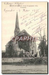 Postcard Old Army Battle of the Marne 6 to 12 September 1914 Ecriennes