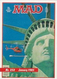Lime Rock Trade Card Mad Magazine Cover Issue No 252 January 1985
