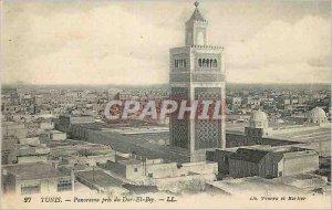 Old Postcard Tunis Panorama took the Dar El Bey
