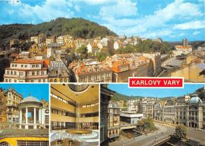 Czech R. Karlovy Vary multiviews Celkovy Pohled Zamecka Kolonada Bridge Castle