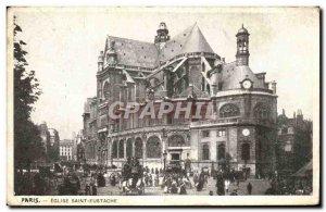 Paris - 1 - Saint Eustache Church - Old Postcard