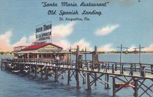 Florida St Augustine Santa Maria Restaurant 1959