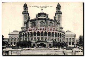 Postcard Old Trocadero Paris Eiffel Tower