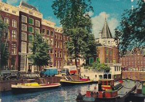 Canal Scene Amsterdam Netherlands