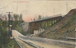 AKRON, Ohio, PU-1908; Bridge at Gorge, Railroad Tracks