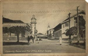 british guiana, GEORGETOWN (?), Assembly Rooms and Post Office (1910s)