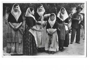 RPPC Ladies & Girl in Mallorca -Payesas Spain