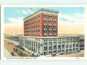 W-border GRAND CENTRAL TRAIN DEPOT STATION Memphis Tennessee TN AE8696