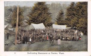 Tenino Washington~Ezra Meeker Oregon Trail~Dedicating Monument~Children~1906 PC