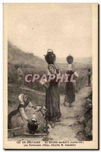 Batz - The bearers of & # 39eau d & # 39apres Vasselon - In Britain - Old Pos...