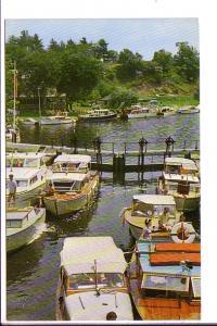 Boats at Dock, Hotel Kenny, Redeau Lakes, Jones Falls, Ontario