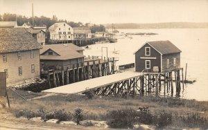 Boothbay Harbor Maine~Dock Down to Fish Market~HR McGregor Pub~1920s RPPC